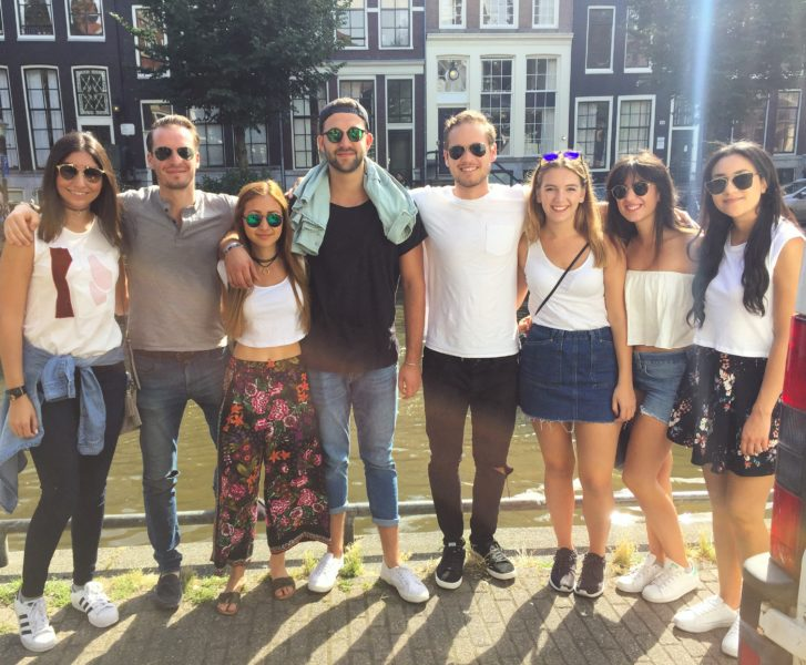 Some Pulse members stroll through the quaint streets of Amsterdam.